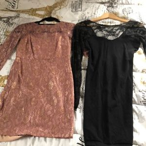 2  XS mini  cocktail dresses. Junior sizes.